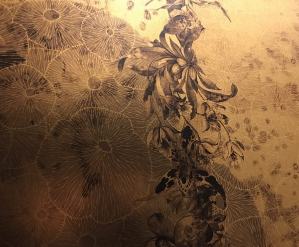 Bespoke art wallcovering by Elegant Clutter